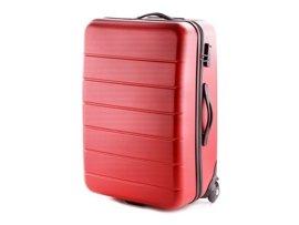Duża walizka VIP COLLECTION V25-10-743 czerwona