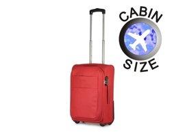 Mała walizka PUCCINI EM-50307 C czerwona